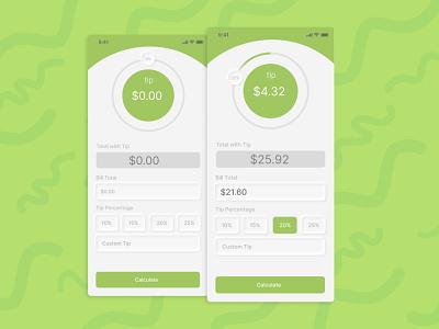 Daily UI #004 – Calculator mobile app mobile forms daily ui dailyui daily challange app tip calculator calculator