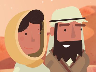Mary And Joe mary and joseph christmas story jesus baby jesus animation cartoon illustration manger