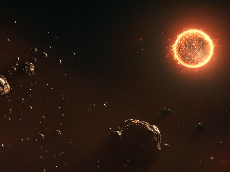 The Great Conductor - Sun and Asteroids space galaxies nativity stars asteroids sun after effects