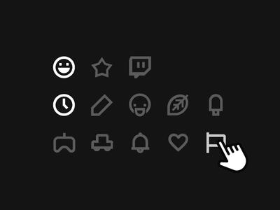 Emoji categories v2.0 material icons icons material design material categories emoji