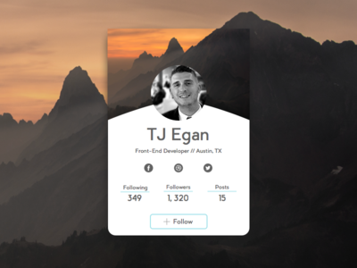 Daily UI // 006 Profile Page