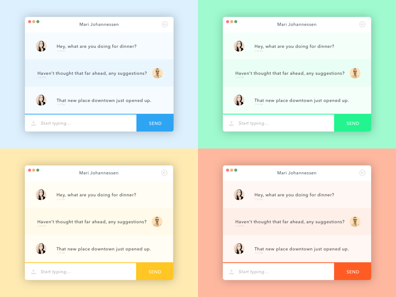 Daily UI // 013 Direct Messaging chat im message messenger ui challenge web 013 dailyui