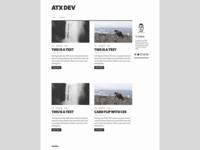 Blog Redesign // V4  minimal dev atx website web web development redesign blog