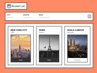Bucket List // React App [code]