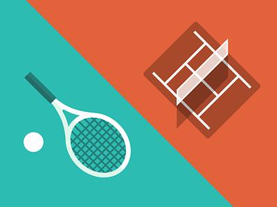 Tennis time icons tennis