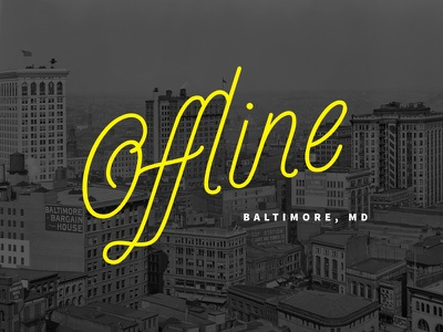 Offline Conference conference logo lettering type baltimore maryland