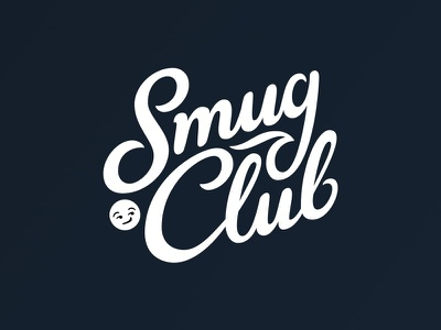 Smug Club lettering