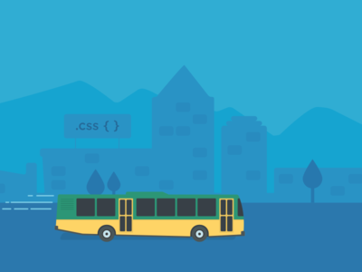 City illustrations bus illustration