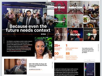 Voxmedia Dot Com Concept home site website