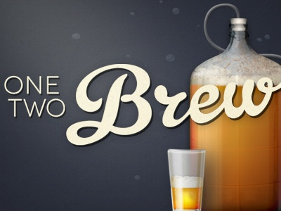 One Two Brew beer app illustration identity