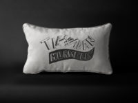 Sketching a phrase on a pillow