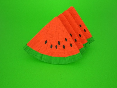 origami fruits - watermelon