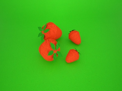 origami fruits - strawberry