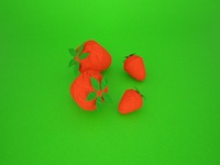 origami fruits - strawberry