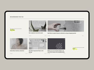 Daily Design News - Recommended magazine layout online magazine news newspaper next previous section landing page typography design ux ui branding minimal clean experimental design layout
