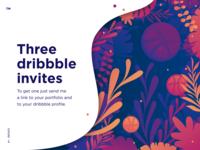 Three dribbble invites