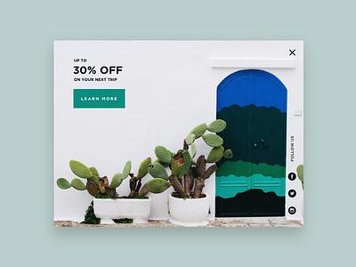 Daily UI #016 - Pop-Up / Overlay design popup tropical challange simple clean minimal colorscheme pop-up dailyui016 dailyui