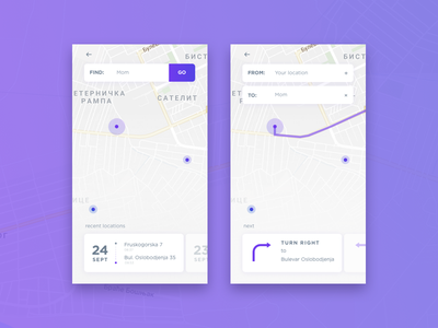 daily UI #020 - Location Tracker daily ui challenge challenge minimal app clean simple tracker location tracker dailyui020 dailyui navigation design navigation location app location