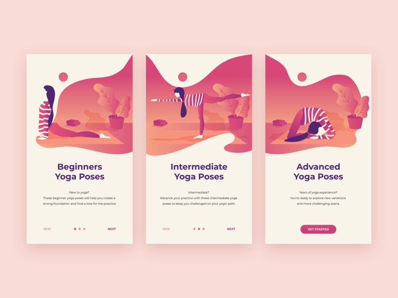 Daily UI #023 - Onboarding by Tamara on Dribbble