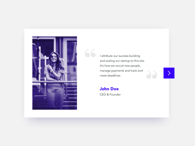 Daily UI #039 - Testimonials next typography daily ui design simple design clean daily ui 039 039 daily ui challenge card testimonial card reviews testimonials testimonial testimony