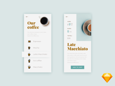 Freebie - Daily UI Challenge #043 - Food / Drink Menu