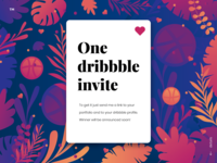Dribbble invite - Daily UI Challenge 044 -Favorites