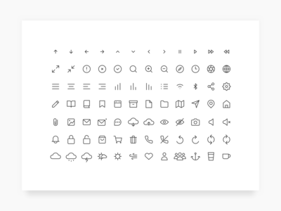 Freebies - Daily UI Challenge #055 - Icon Set