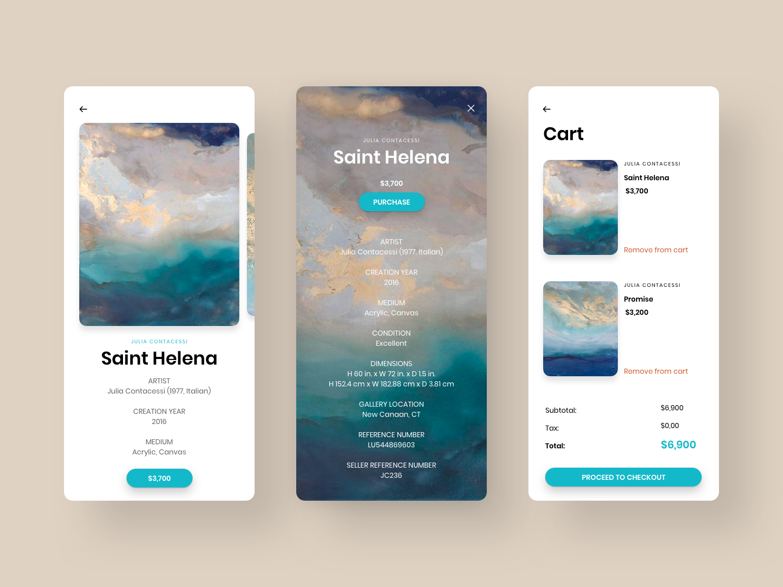 Shopping Cart artwork colors daily ui app design ux ui minimal clean daily ui challenge ecommerce design cart checkout single product shopping cart shopping app e-commerce app ecommerce art delership art