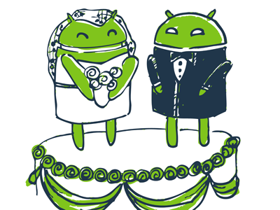 Androidwedding shot