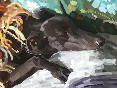 Portrait of Shadow and Jess