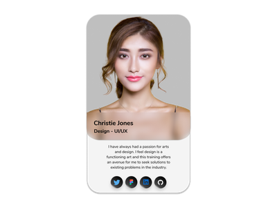 Simple Profile Card profile card