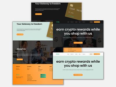 CUMA Landing Page Design cryptocurrency design ecommerce simple design dark minimal ui