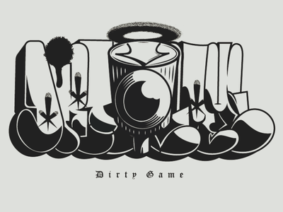 Dirty Game Cartel graffiti throwup bombing street style street dirty game vector
