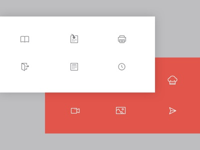 Icons chef send image video time exit print calendar icon design icons