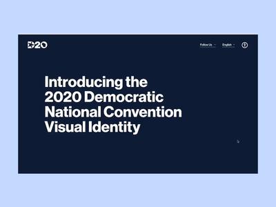 DNC identity microsite 1