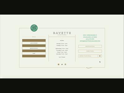 Restaurant site UI & Interactive typography svg animation animation 2d 2d animation motion javascript interaction design