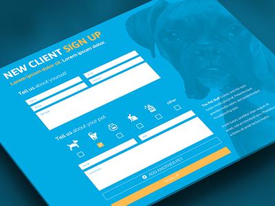 Sign Up Form form sign up website ui input button icons pet dog cat