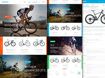 Giant Bicycles Website Redesign interface ui ux bike bicycles website product page sports
