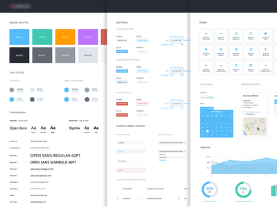UI Style Guide buttons form icons colors guide style style guide interface ui