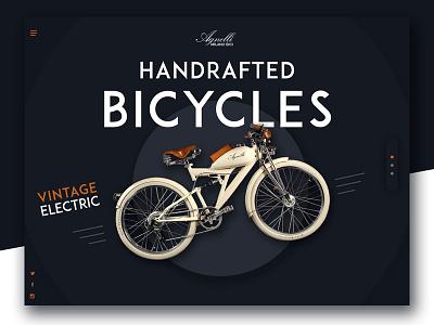 Handcrafted Vintage Bicycles page home bike landing web bicycles ui slider website