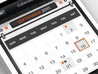 iPhone App - Calendar