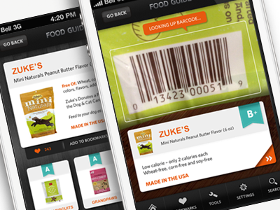 Food guide barcode scan