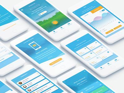 Mindfulness App setting graph meditation mindful ux app iphone mobile design ui