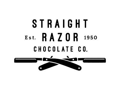 Straight Razor Chocolate Co. logo chocolate straight razor modern vintage manly