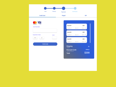 Credit card checkout DailyUI002 ux typography ui design