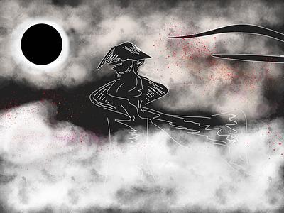 The One: Black and White Fighter Fun graphic design vector illustration design