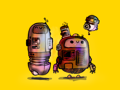 Robot Frands Rebound graphic design illustration design