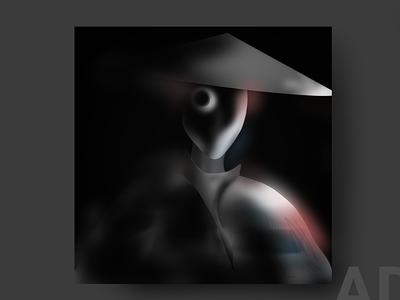 Robo Samurai logo logo graphic design illustration design
