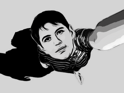 Boy illustration 1 light fushion graphic design illustration design