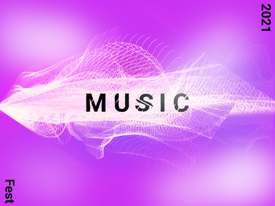 2021 Music Fest logo branding light fushion design graphic design
